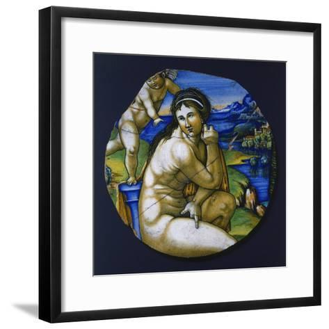Fragment of Plate with Figure of Venus, 1530--Framed Art Print