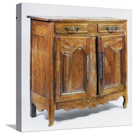 Louis XV Style Carved Walnut Sideboard, Ca 1770, France--Stretched Canvas Print