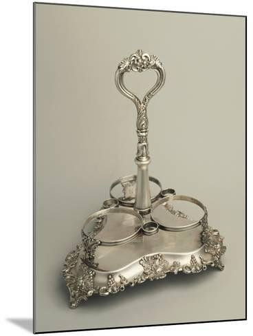 Embossed, Sheffield Plate Bottle Rack, Decorated with Vine-Branches--Mounted Giclee Print
