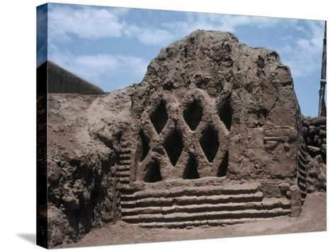 Peru, La Libertad, Wall Carvings at Chan Chan Archaeological Site--Stretched Canvas Print