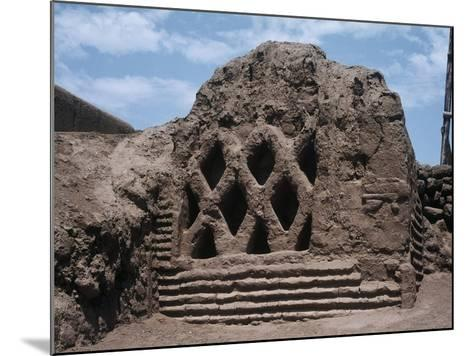 Peru, La Libertad, Wall Carvings at Chan Chan Archaeological Site--Mounted Giclee Print
