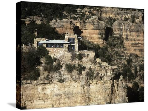 Usa, Arizona, Grand Canyon National Park, Lookout Studio at South Rim of Grand Canyon--Stretched Canvas Print