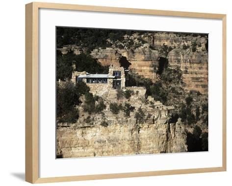 Usa, Arizona, Grand Canyon National Park, Lookout Studio at South Rim of Grand Canyon--Framed Art Print