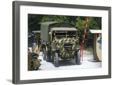 Meeting of Military Vehicles, Tractor Fiat Spa 35, 1935--Framed Art Print