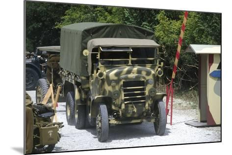 Meeting of Military Vehicles, Tractor Fiat Spa 35, 1935--Mounted Giclee Print