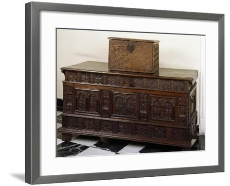 Carved Chest and Trunk, Spain--Framed Art Print