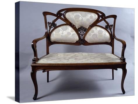 Art Nouveau Style Sofa, France--Stretched Canvas Print