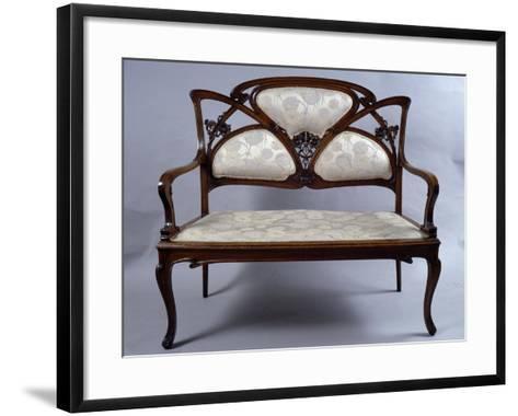 Art Nouveau Style Sofa, France--Framed Art Print