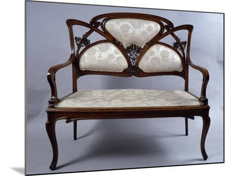 Art Nouveau Style Sofa, France--Mounted Giclee Print