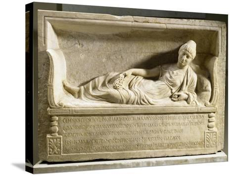 Funerary Stele for Felicita--Stretched Canvas Print