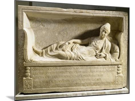 Funerary Stele for Felicita--Mounted Giclee Print