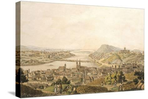 View of Budapest, Hungary 19th Century Print--Stretched Canvas Print
