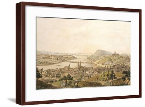 View of Budapest, Hungary 19th Century Print--Framed Art Print
