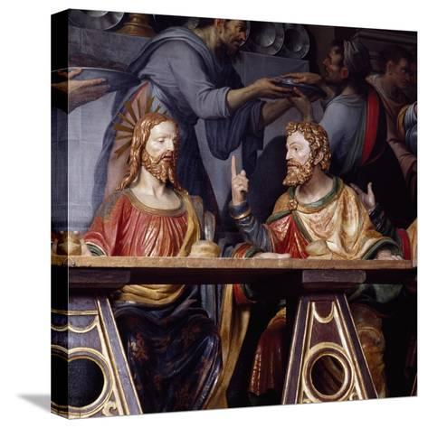 The Last Supper, Detail Showing Jesus Christ and Saint Thomas, 1532--Stretched Canvas Print