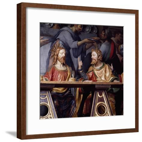 The Last Supper, Detail Showing Jesus Christ and Saint Thomas, 1532--Framed Art Print