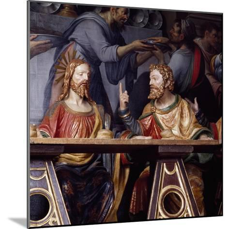 The Last Supper, Detail Showing Jesus Christ and Saint Thomas, 1532--Mounted Giclee Print