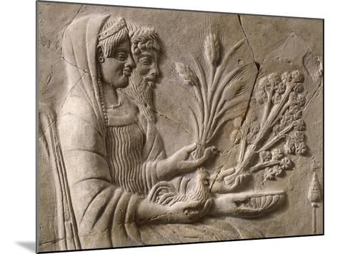 Italy, Calabria, Locri, Pinax Depicting Persephone and Pluto Sitting, Terracotta--Mounted Giclee Print