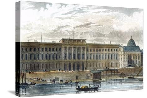 Paris Mint on Seine, Paris, France 19th Century--Stretched Canvas Print