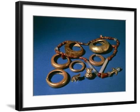 Jewelry in Gold and Copper, Colombia, Tairona Culture--Framed Art Print