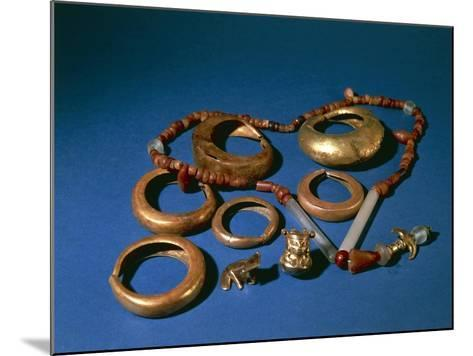 Jewelry in Gold and Copper, Colombia, Tairona Culture--Mounted Giclee Print