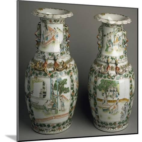 Ceramic Vases with Expanded and Lobed Mouth, China--Mounted Giclee Print