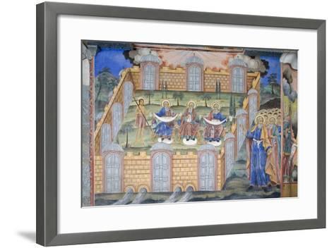 Bulgaria, Rila Monastery at Church of Nativity of Virgin--Framed Art Print