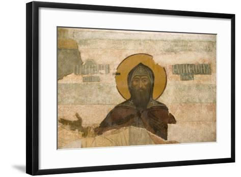 Russia, Yaroslavl, Column Frescos in Cathedral at Monastery of Transfiguration of Savior--Framed Art Print