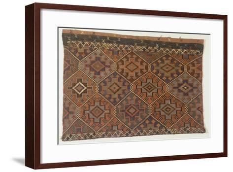 Rugs and Carpets: Turkey - Anatolia. Kilim Carpet--Framed Art Print