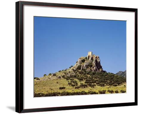 Spain, Extremadura, Almorchon, Castle--Framed Art Print
