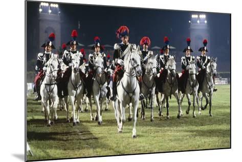 Italy, Milan, Civic Arena, Carousel of Police on Horseback--Mounted Giclee Print