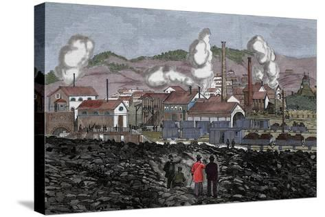 Spain, Barruelo Mines, 19th Century--Stretched Canvas Print