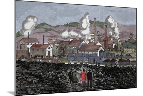 Spain, Barruelo Mines, 19th Century--Mounted Giclee Print
