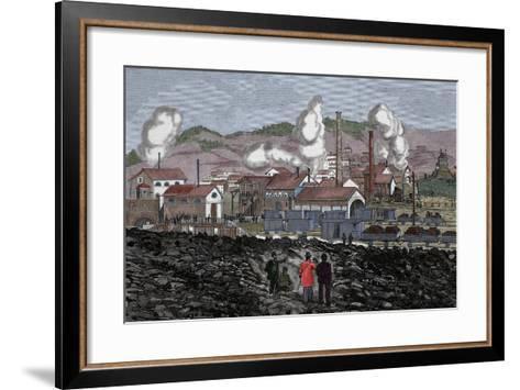 Spain, Barruelo Mines, 19th Century--Framed Art Print