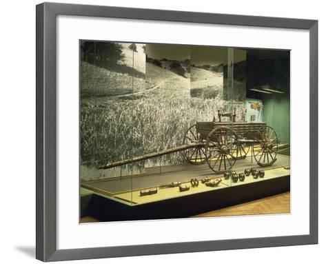 Ornamented Bronze Votive Cart, from Dejbjaerg--Framed Art Print
