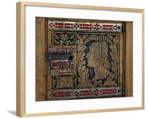 Door Worked in Inlays, Issogne Castle, Valle D'Aosta, Italy--Framed Art Print