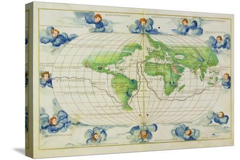 T684 World Map, from the Portolan Atlas of the World--Stretched Canvas Print