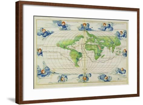 T684 World Map, from the Portolan Atlas of the World--Framed Art Print