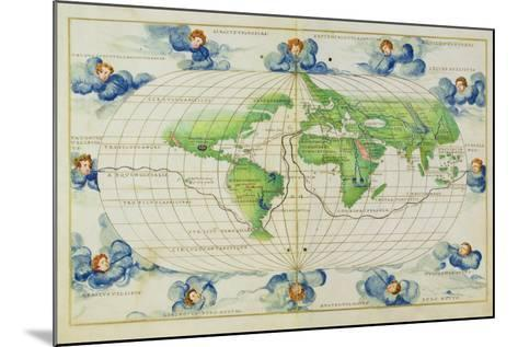 T684 World Map, from the Portolan Atlas of the World--Mounted Giclee Print