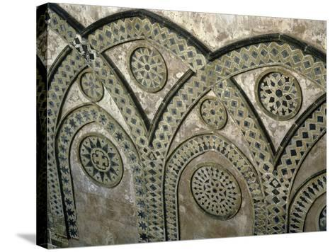 Italy, Sicily, Palermo Province, Monreale, Monreale Cathedral, Upper Part of Facade--Stretched Canvas Print
