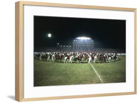 Italy, Milan, Arena Civica, Carousel of Military Police--Framed Art Print