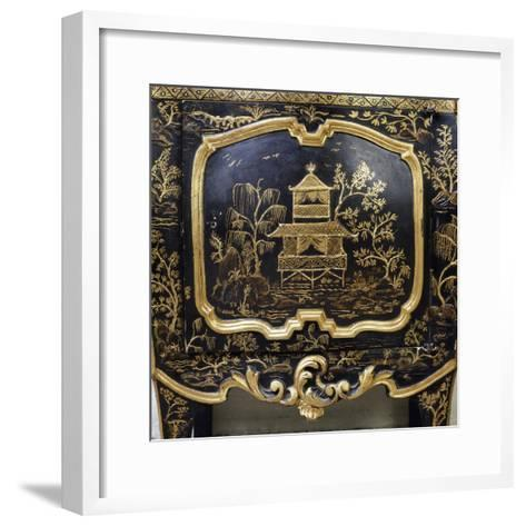 Detail from Piece of Lacquered Furniture with Chinese Motifs--Framed Art Print