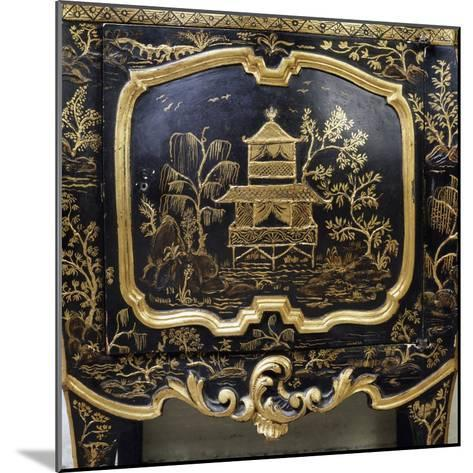 Detail from Piece of Lacquered Furniture with Chinese Motifs--Mounted Giclee Print