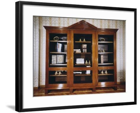 Oak Bookcase with Mahogany Veneer Finish, Circa 1790, France--Framed Art Print
