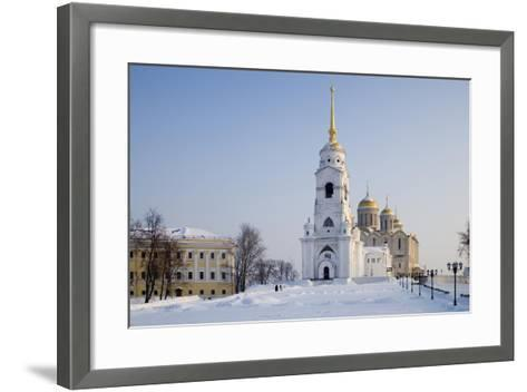 Russia, Golden Ring, Vladimir, Belltower and Assumption Cathedral--Framed Art Print