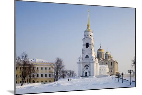 Russia, Golden Ring, Vladimir, Belltower and Assumption Cathedral--Mounted Giclee Print