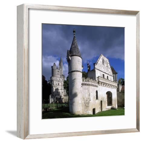 View of Chateau De Septmonts, Picardy, France, 14th-15th Century--Framed Art Print
