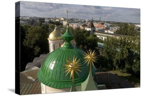 Russia, Yaroslavl, Cathedral at Monastery of Transfiguration of Savior--Stretched Canvas Print