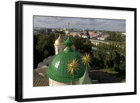Russia, Yaroslavl, Cathedral at Monastery of Transfiguration of Savior--Framed Art Print