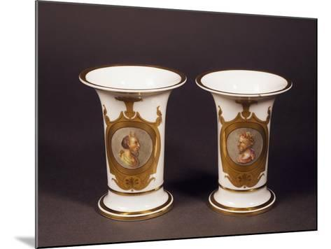 Pair of Trumpet-Shaped Vases, 1820--Mounted Giclee Print