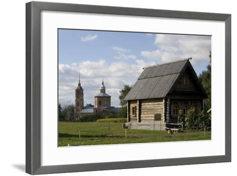 Russia, Suzdal, Wooden Buildings--Framed Art Print